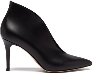Gianvito Rossi Vania 85 Leather Ankle Boots - Black