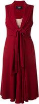 Paule Ka front knot midi dress - women - Polyester/Triacetate - 38