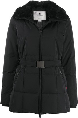 Woolrich Contrast Collar Padded Jacket