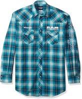 Wrangler Men's Big and Tall Dodge Ram Rodeo Series Woven Shirt