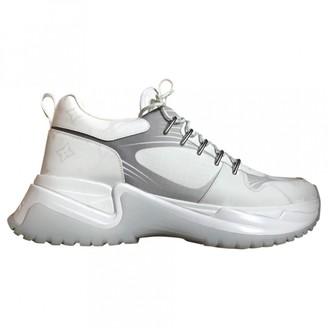 Louis Vuitton Run Away White Cloth Trainers