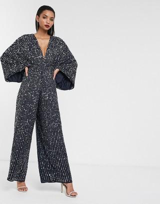 ASOS EDITION sequin kimono sleeve wide leg jumpsuit