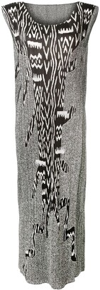 Issey Miyake Pre Owned 2000's Print Pleated Dress