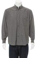 Ermenegildo Zegna Checkered Print Button-Up Shirt