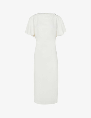 Reiss Josie stretch-weave midi dress