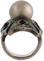 Loree Rodkin 18kt black gold gothic ring