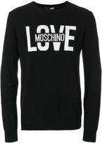 Love Moschino Love slogan sweatshirt