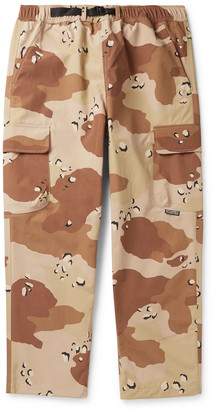 Stussy Belted Camouflage-Print Nylon Cargo Trousers - Men - Neutrals