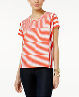 MICHAEL Michael Kors Striped Poncho Top