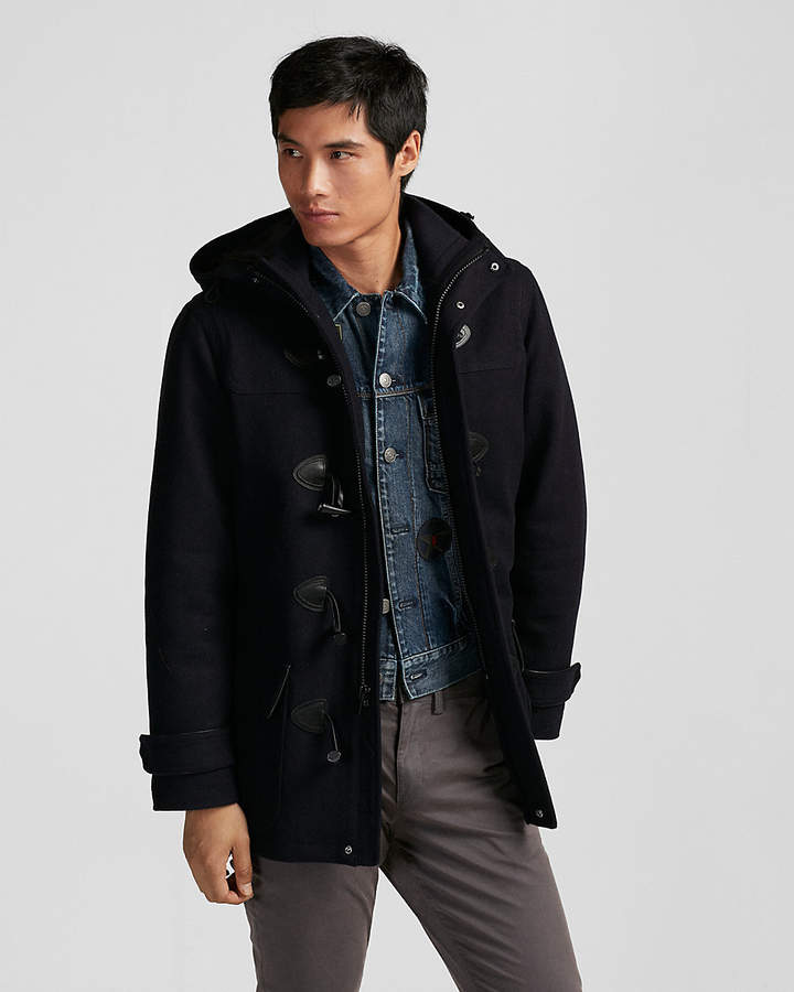 Express Recycled Wool Toggle Coat
