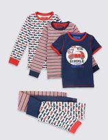 Marks and Spencer 3 Pack Assorted Pyjamas (9 Months - 8 Years)