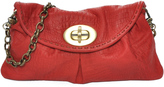 Carla Mancini Red Croc-Embossed Leather Clutch