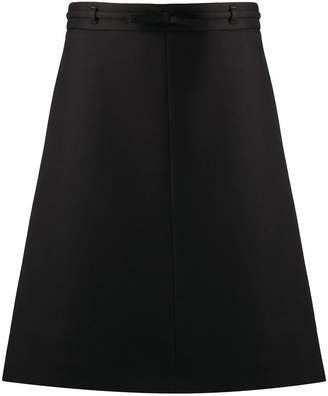 RED Valentino Bow Detail Belted Skirt