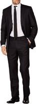 Levinas Black Stripe Two Button Notch Lapel Wool Slim Fit Suit