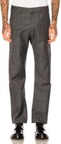 Vetements x Brioni Oversized Slim Pants in Gray,Checkered & Plaid.