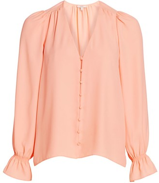Joie Bolona Long Puff-Sleeve Blouse