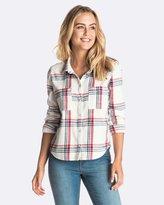 Roxy Womens Plaid Party Shirt
