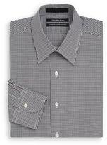 Saks Fifth Avenue Classic-Fit Mini Gingham Dress Shirt & Gift Box