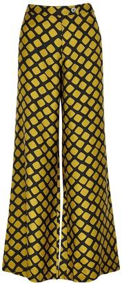 La Prestic Ouiston Giudecca Printed Silk Trousers
