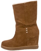 Koolaburra Suede Wedge Ankle Boots
