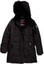 Hawke & Co Faux Fur Trim Hooded Parka (Big Girls)