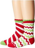 Jefferies Socks Christmas Socks 2-Pack (Candy Cane Stripe + Chevron) (Infant/Toddler/Little Kid)