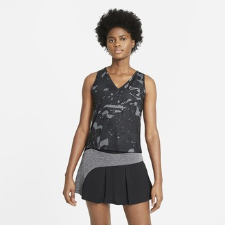 Nike Women's Printed Tennis Tank NikeCourt Victory
