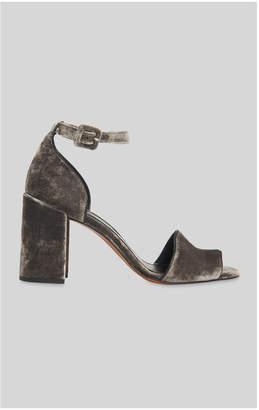 Whistles Hedda Velvet Block Heel Sandal