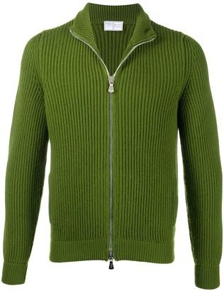 Fedeli Zip-Through Ribbed Sweater