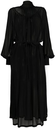 Ann Demeulemeester Bell Sleeve Sheer Dress