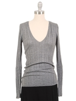 L'Agence Ribbed V-Neck Sweater