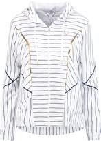 Lucas Hugh Striped shell hooded jacket