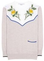 Stella McCartney Wool sweater with appliqué