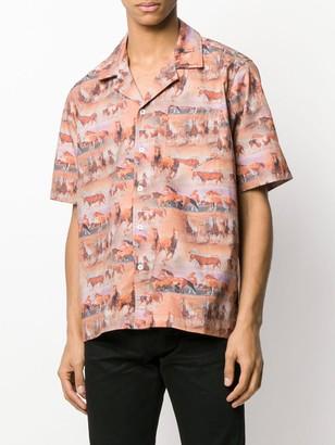 Rhude Short Sleeve Horse Print Shirt