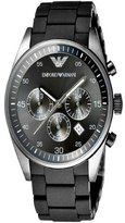 Emporio Armani Men's AR5889 Sport Chronograph Silicone Accent Black Dial Watch