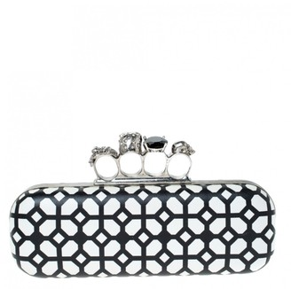 Alexander McQueen Skull White Leather Clutch bags
