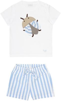 Il Gufo Baby T-shirt and shorts set