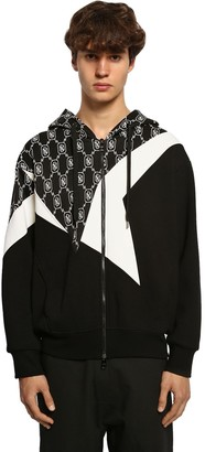 Neil Barrett Zip-Up Techno Jersey Sweatshirt Hoodie