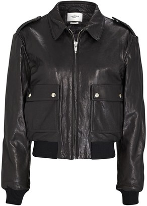 Etoile Isabel Marant Cadell Leather Bomber Jacket