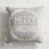 Pier 1 Imports Pompom Merry Christmas Pillow