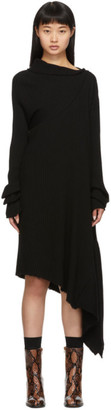 Marques Almeida Black Draped Neck Dress