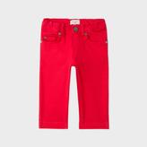 Paul Smith Baby Boys' Red Stretch-Denim Jeans