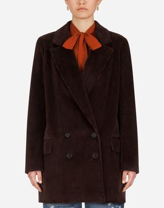 Dolce & Gabbana Masculine Double-Breasted Corduroy Jacket