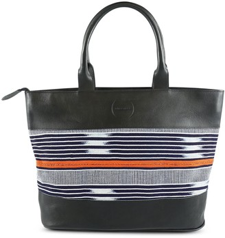 Sarep + Rose Robin Tote Black & Navy Orange Baoule