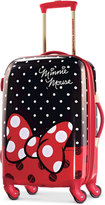 """Disney Minnie Mouse Red Bow 21"""" Hardside Spinner Suitcase by American Tourister"""