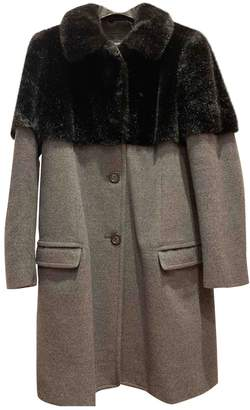 Moschino Cheap & Chic Moschino Cheap And Chic Grey Wool Coat for Women