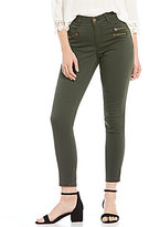 Jolt Multi Zip High Rise Techno Fit Ankle Skinny Pant