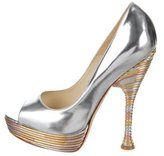 Brian Atwood Metallic Harris Pumps