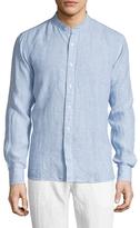 Toscano Linen Mandarin Collar Sportshirt