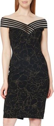 Gina Bacconi Women's Metallic Crepe Dress Cocktail